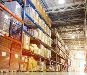 warehouse full of parcels