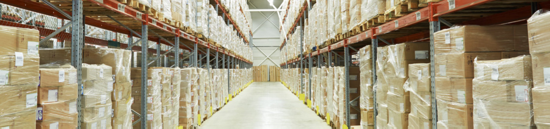 parcels in a warehouse