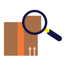 box with magnifying glass icon